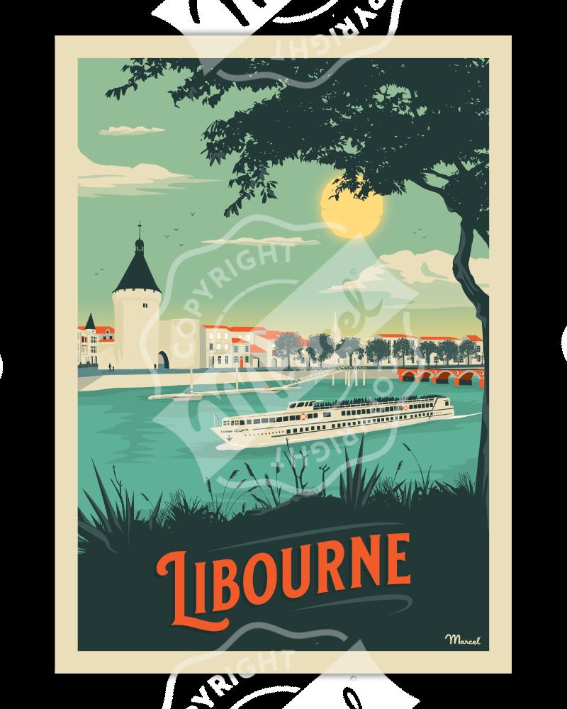 Poster LIBOURNE