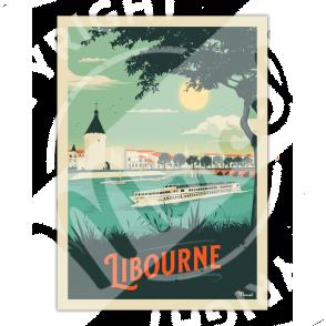Affiche LIBOURNE