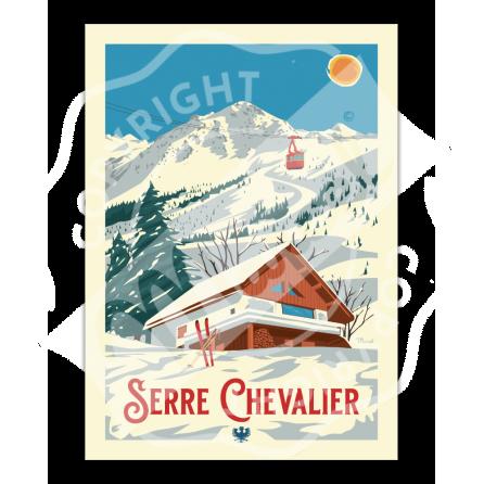 Affiche SERRE CHEVALIER «Le Chalet»