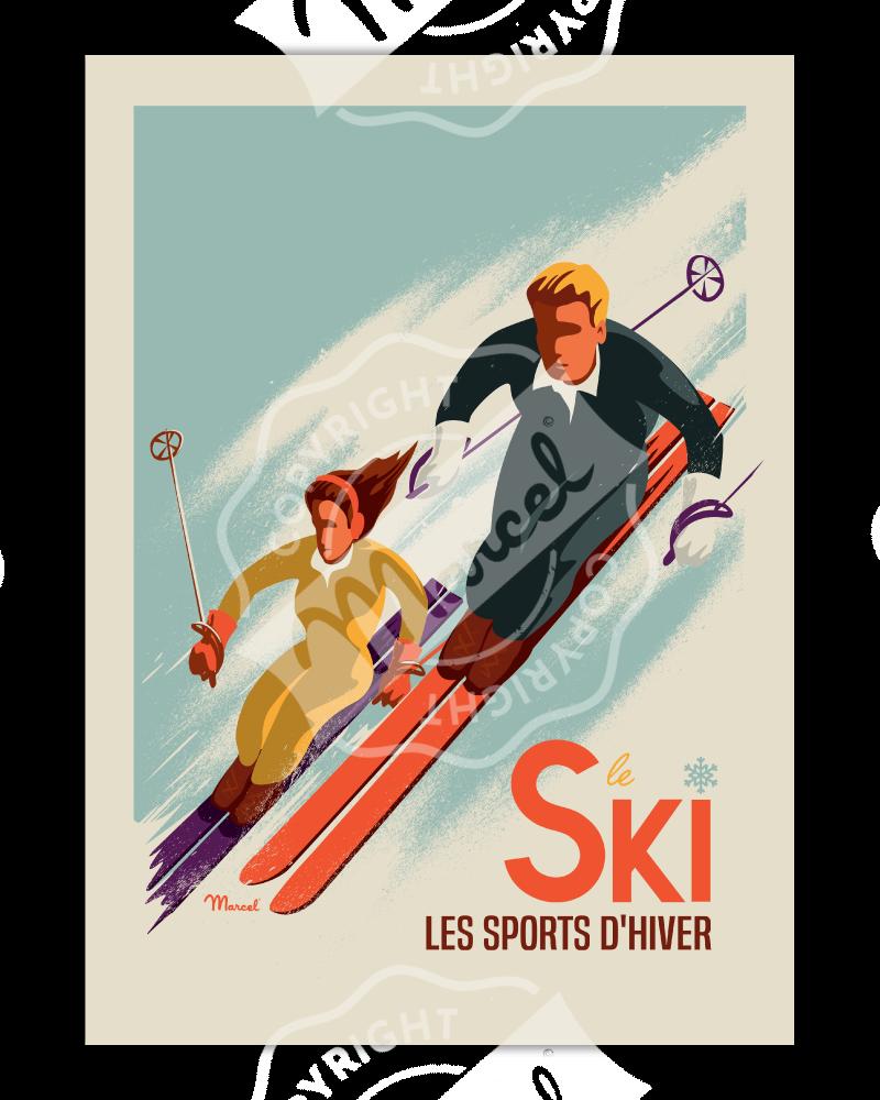 "Poster CLASSIC WINTER "" SKI..."