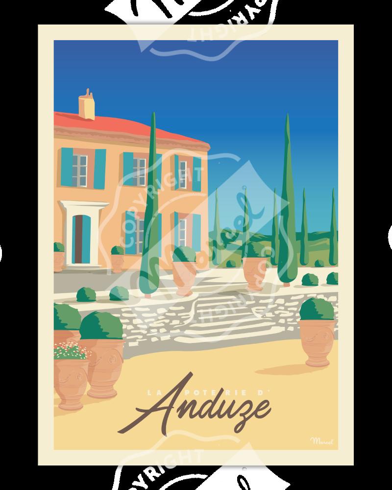 AFFICHE La Poterie d'Anduze