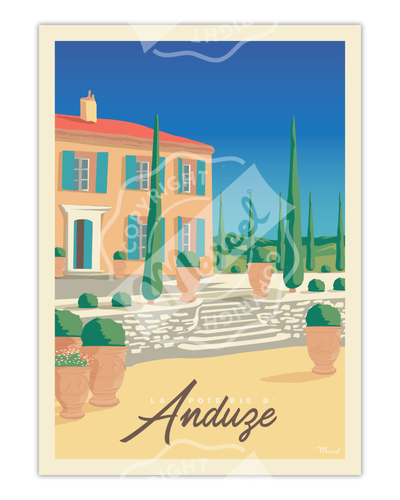 """Poster """"La Poterie d'Anduze"""""""