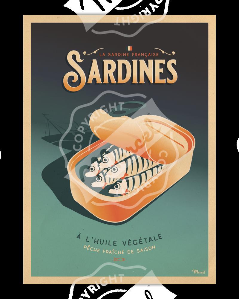 Poster Marcel LES SARDINES