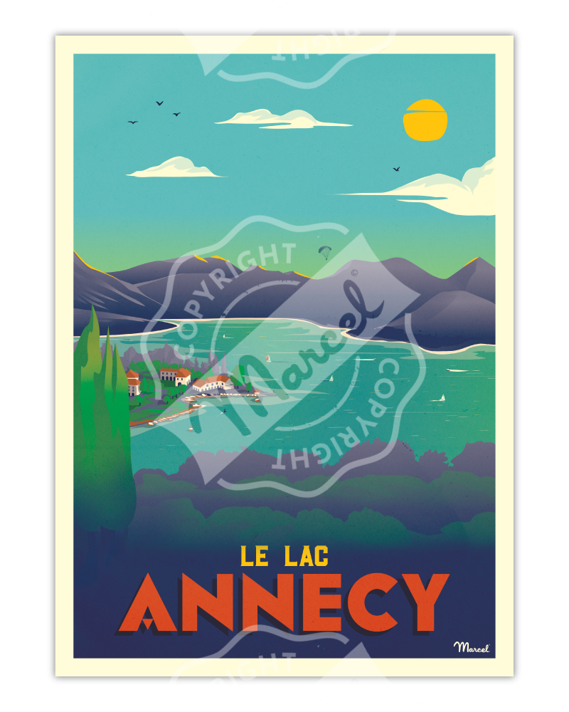 "Poster Marcel ANNECY ""Le Lac"""
