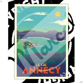 """Affiche ANNECY """"Le Lac"""""""