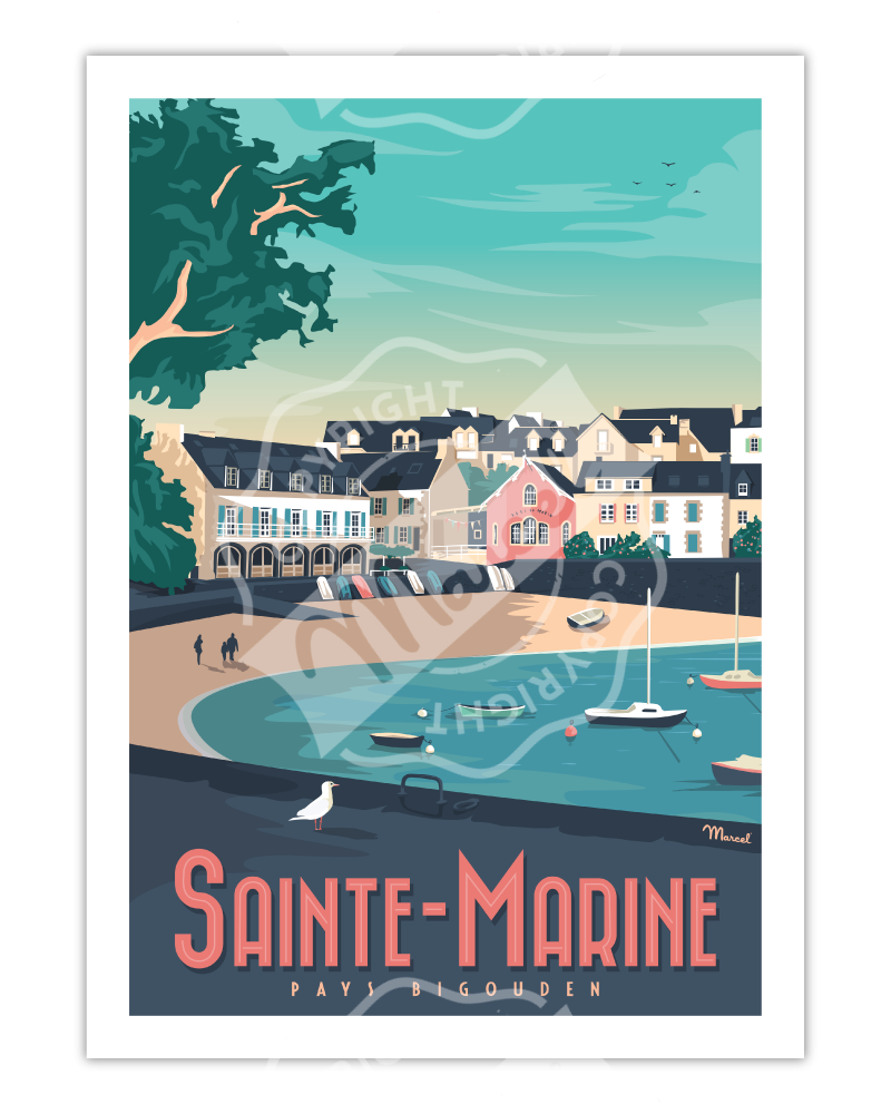 Poster SAINTE-MARINE