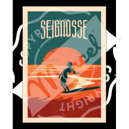 """Affiche SEIGNOSSE """"Surfing"""""""