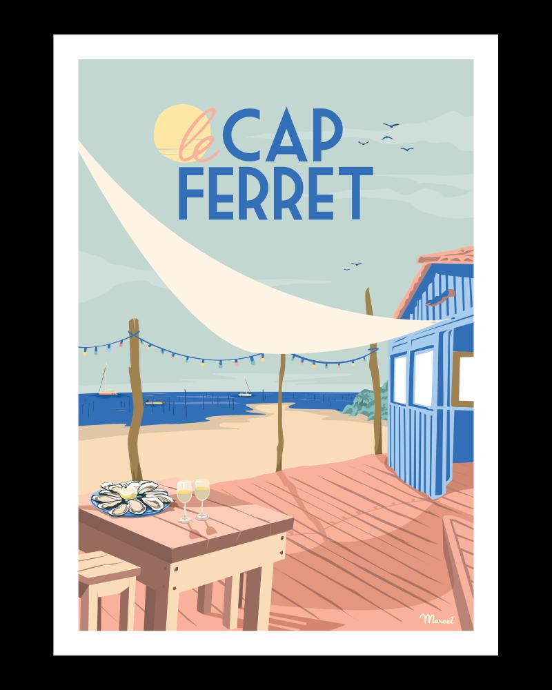 "Poster Cap Ferret ""Cabane à..."