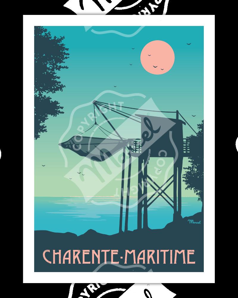 """Affiche CHARENTE-MARITIME """"Le Carrelet"""""""