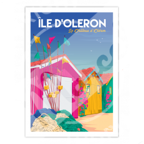"""Affiche Île d'Oléron """"Chateau d'Oléron"""""""