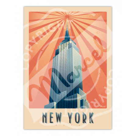 """AFFICHE NEW YORK """"Empire State Building"""""""