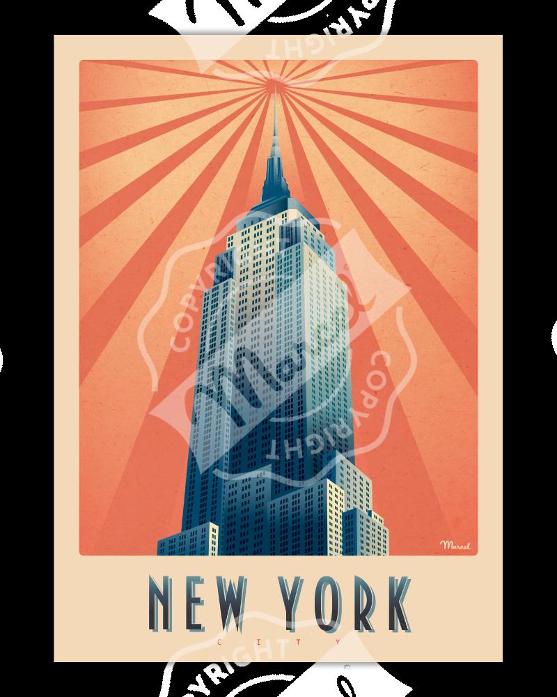 Poster Marcel NEW YORK...