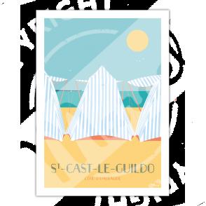 """AFFICHE ST-CAST-LE-GUILDO """"Les Tentes"""""""