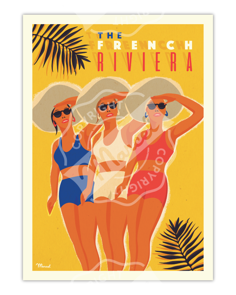 "Affiche ""The French Riviera"""