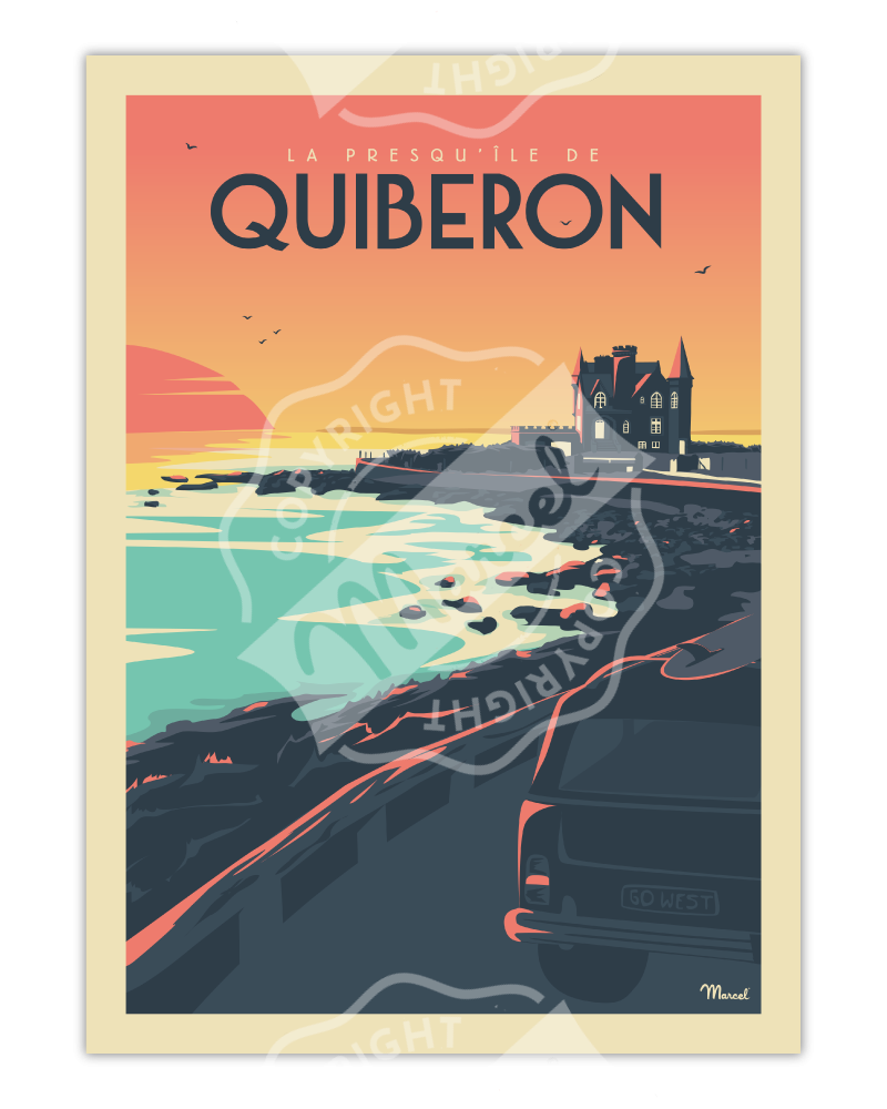 """AFFICHE QUIBERON """"Le Château Turpault"""""""