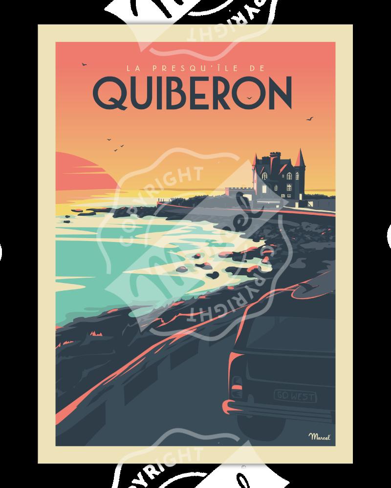 """Poster QUIBERON """"Le Château..."""