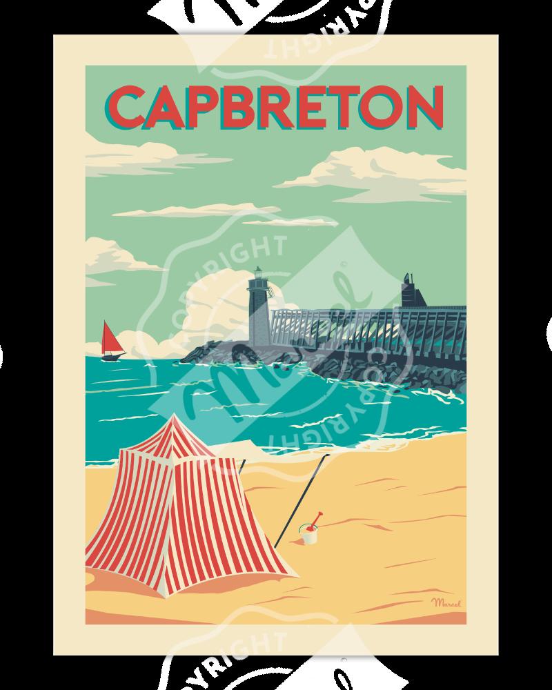 "Poster Capbreton ""Estacade"""