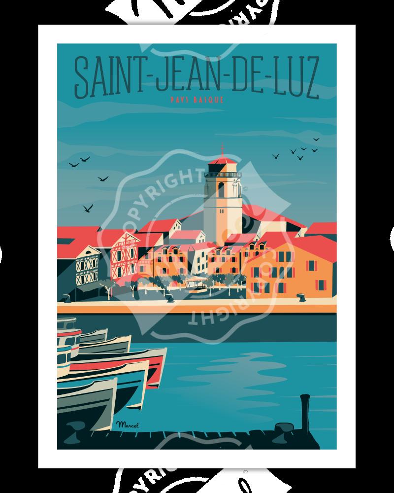 Affiche Saint-Jean-de-Luz...