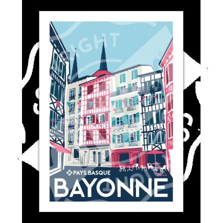 """Affiche Bayonne """"Rue Argenterie"""""""