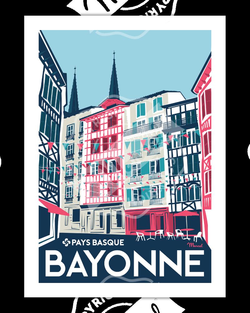 "Affiche Bayonne ""Rue..."