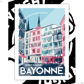"Poster Bayonne ""Rue Argenterie"""