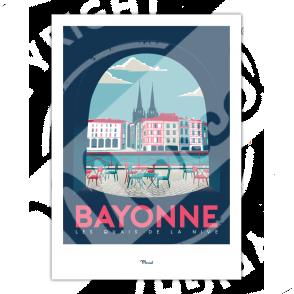 """Poster Bayonne """"Quais de NIve"""""""