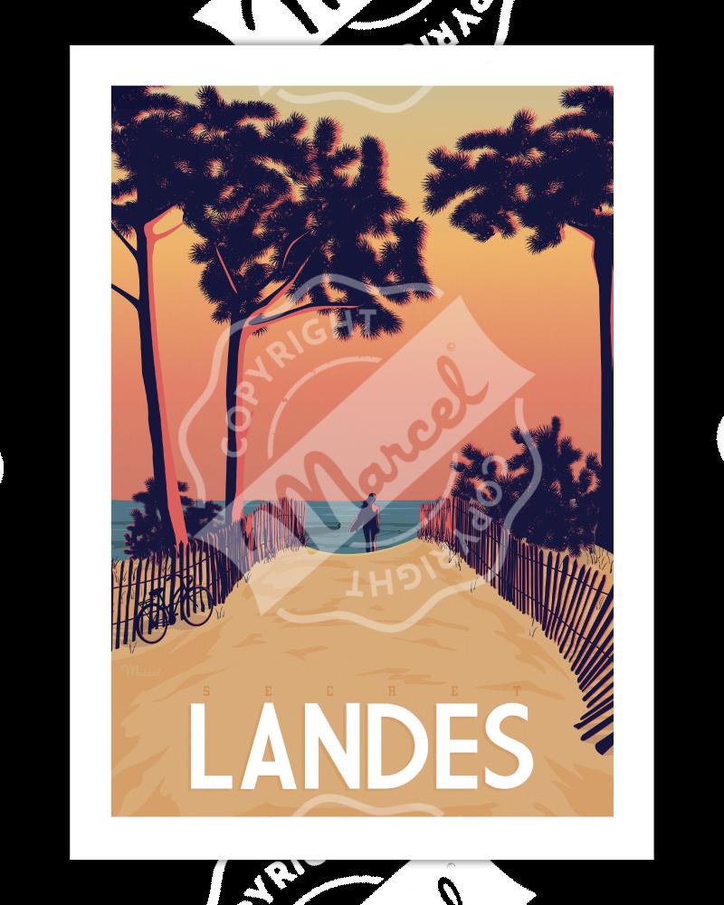 """Poster """"Secret Landes"""""""