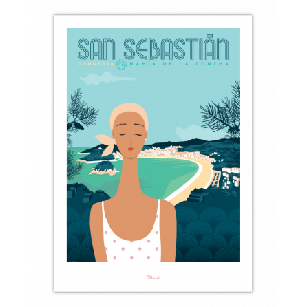 """Affiche San Sebastián """"Bahía de la Concha"""""""