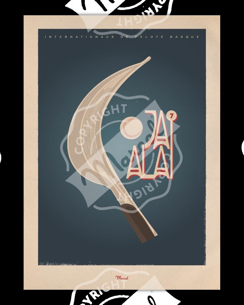 "Poster ""Jai Alai"""