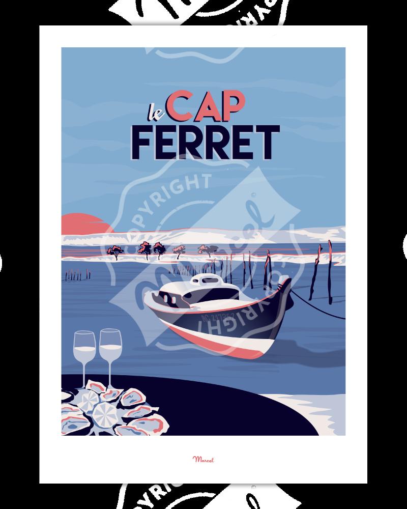 """Affiche Cap Ferret """"Le Mimbeau"""""""