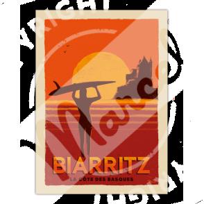 """Affiche Biarritz """"Côte des Basques"""""""