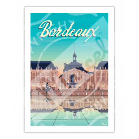 "Affiche Bordeaux ""Place de la Bourse"""