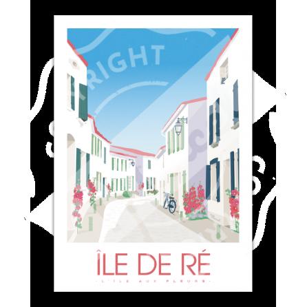 """Affiche Île de Ré """"L'île aux fleurs"""""""