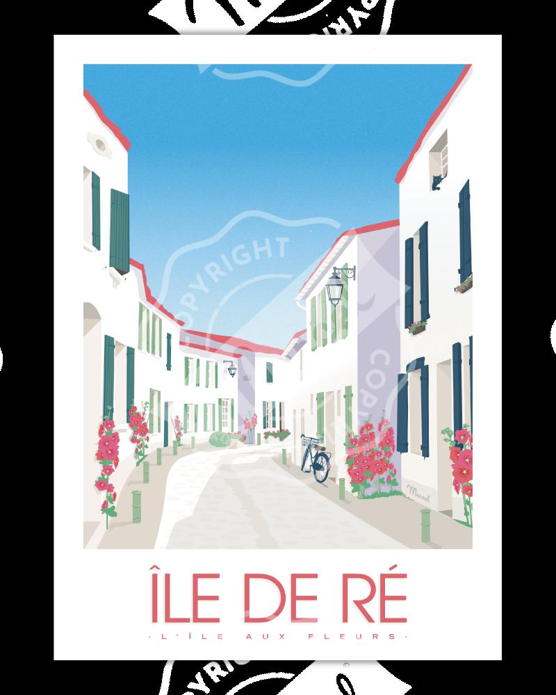 """Poster Île de Ré """"L'île aux..."""
