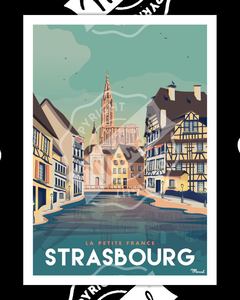 "Affiche STRASBOURG ""La..."