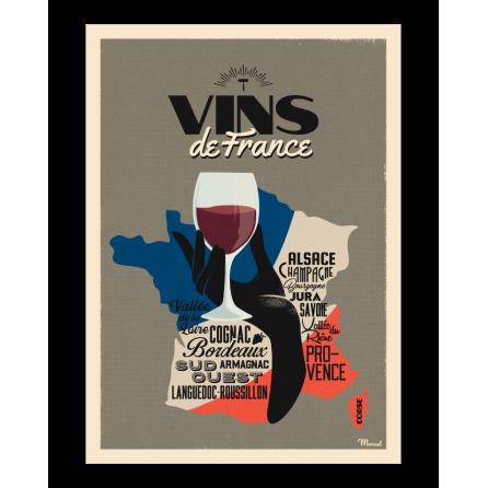 Affiche VINS DE FRANCE