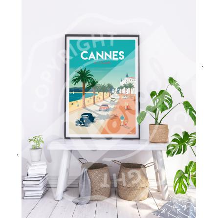Affiche CANNES «La Croisette»