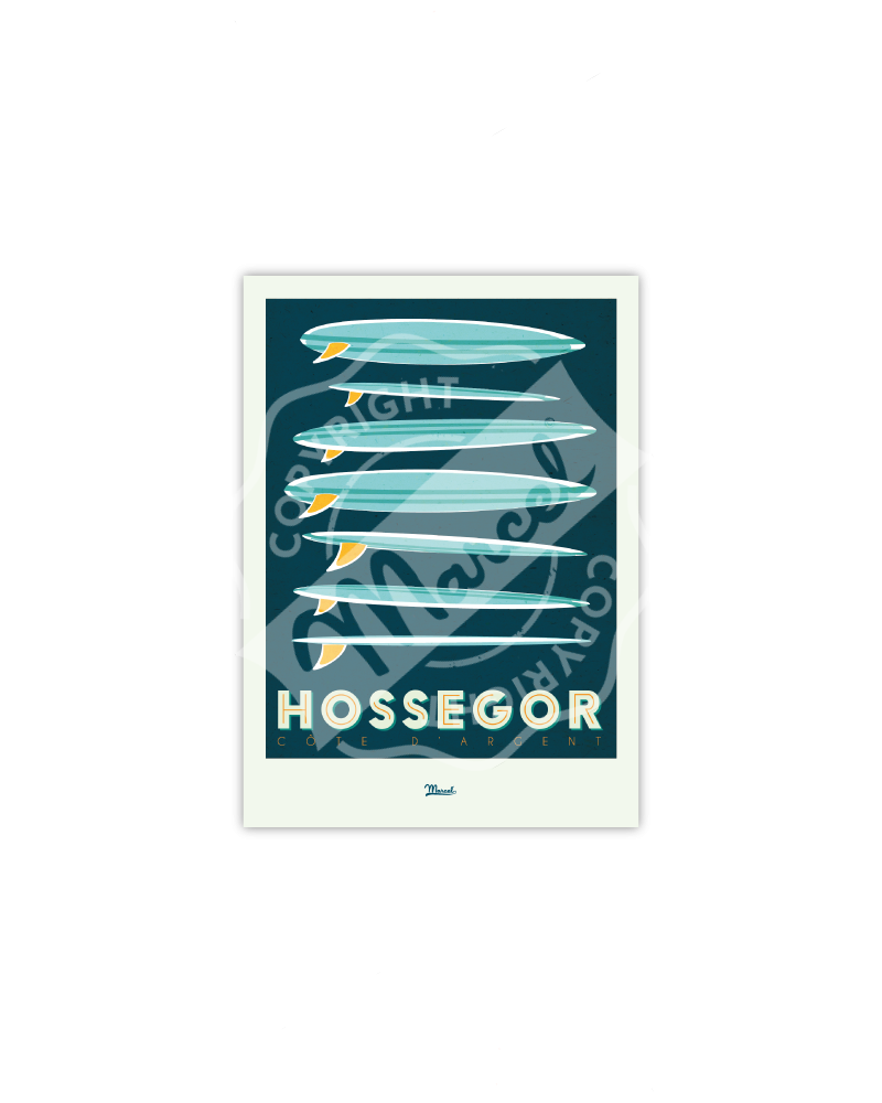 "Postcard Hossegor ""Surfboards"""