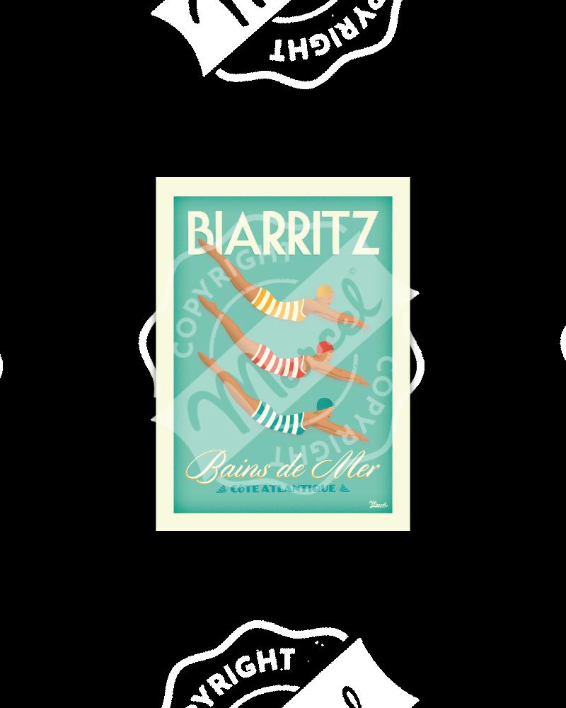 "Carte Postale BIARRITZ ""Bains de Mer"""