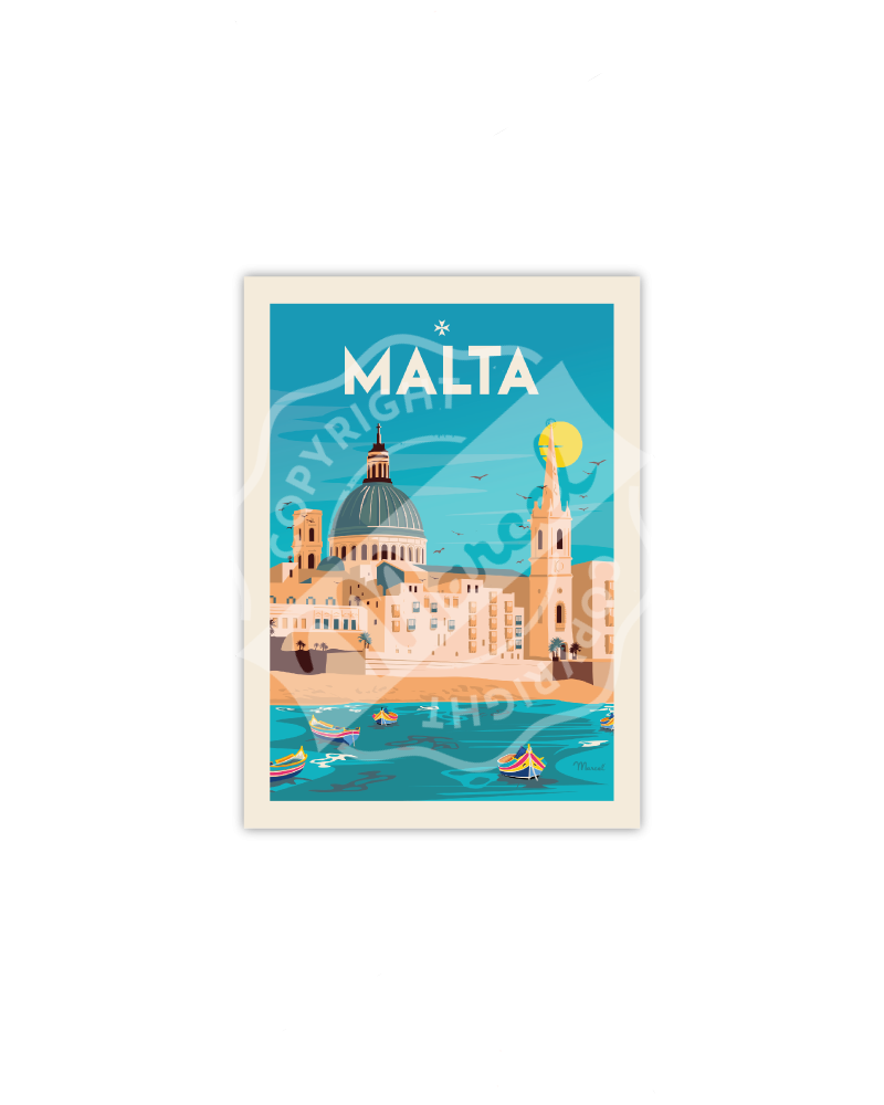 "Postcard  Malta ""Souvenirs..."