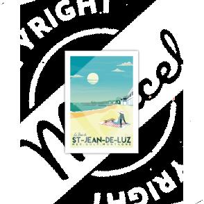 "Carte Postale Saint-Jean-de-Luz ""La Baie"""