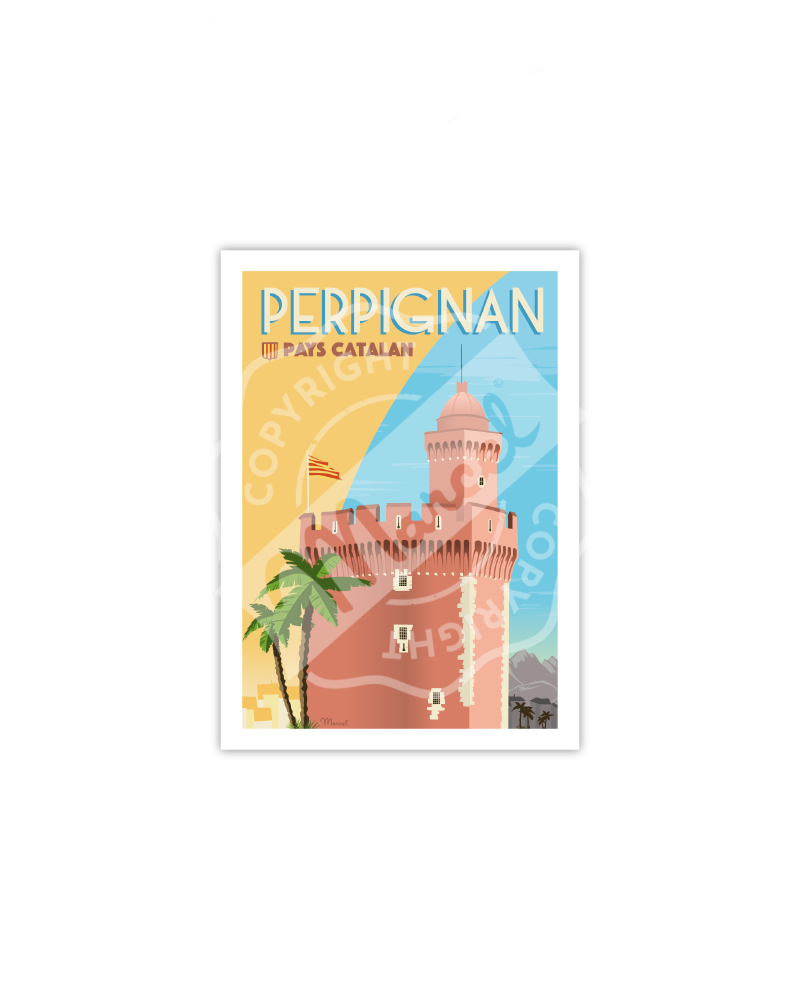 """Postcard  Perpignan """"Le..."""