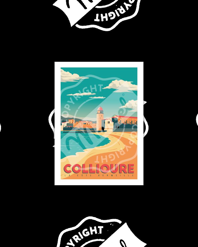 """Postcard Collioure """"Côte..."""