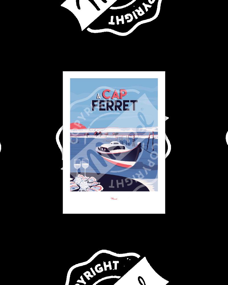 """Postcard Cap Ferret """"Le..."""