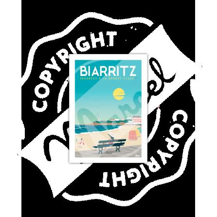 """Biarritz """"Vacances à la grande plage"""""""