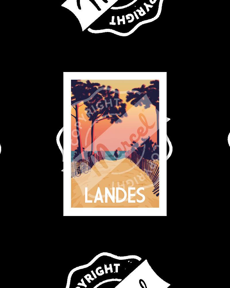 Postcard  SECRET LANDES