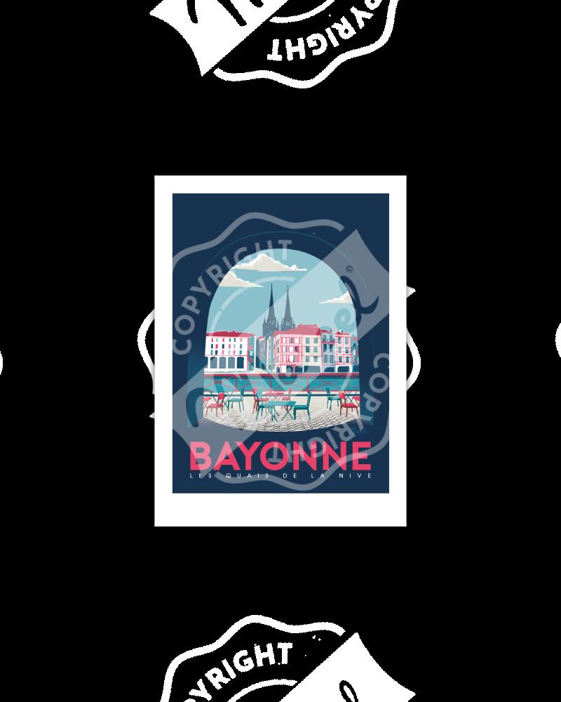 """BAYONNE """"Quais de Nive"""""""