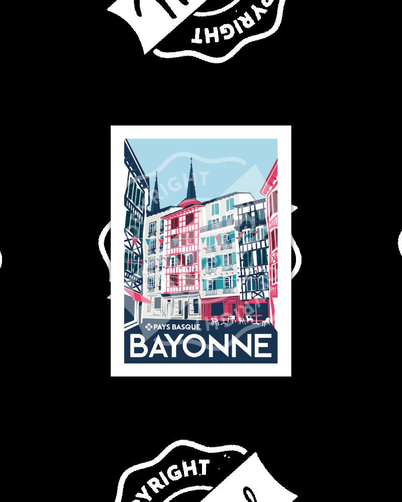 "Postcard  BAYONNE ""Rue..."
