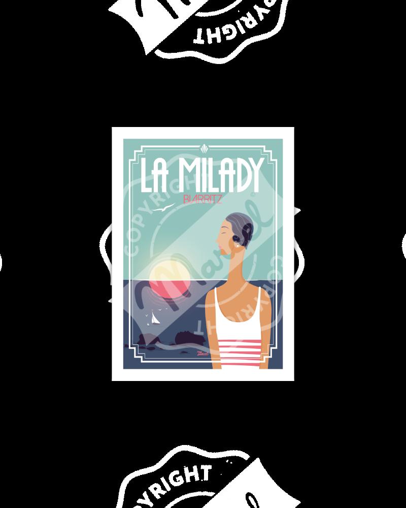 """Postcard  BIARRITZ """"La Milady"""""""