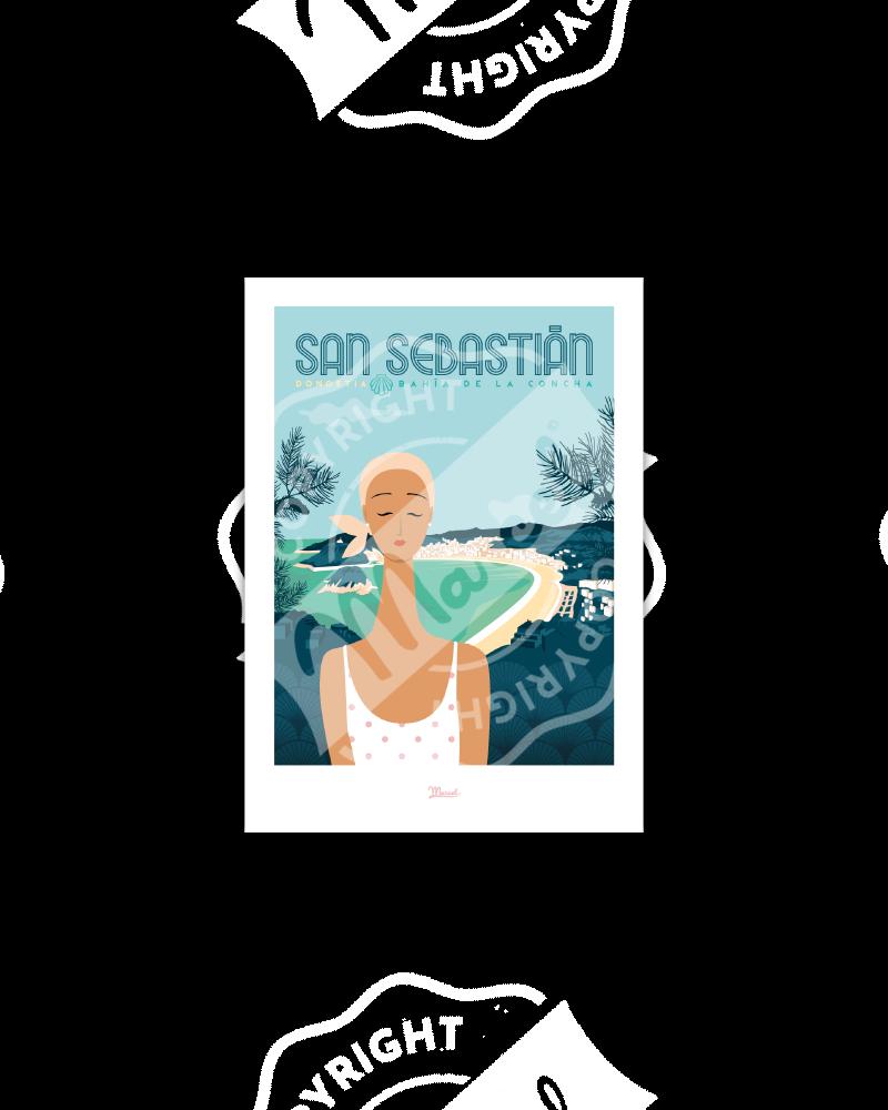 Postcard  SAN SEBASTIAN...
